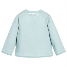 Moon et Miel - Baby Girls Teal Blue Shirt | Childrensalon