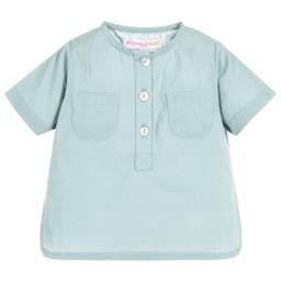 Moon et Miel - Baby Girls Teal Blue Shirt   Childrensalon