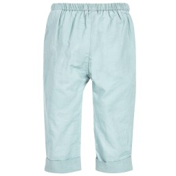 Moon et Miel - Baby Girls Teal Blue Trousers | Childrensalon