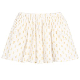 Moon et Miel - Girls Ivory & Gold Skirt | Childrensalon