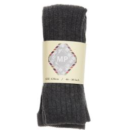 MP - Dark Grey Cotton Ribbed Tights | Childrensalon