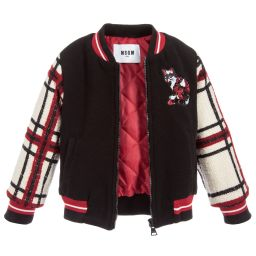 MSGM - Girls Tartan Wool Jacket | Childrensalon