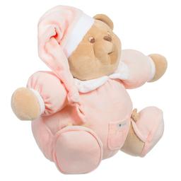 Nanán - Pink Velour Teddy Bear (25cm)   Childrensalon