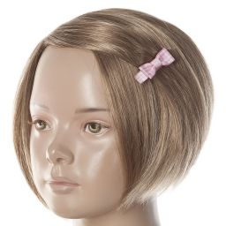 Peach Ribbons - Pink Gingham Hair Clip (4.5cm) | Childrensalon