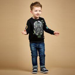 Pediped Flex (1-12yr) - Boys Blue Nubuck 'Jake' Shoes | Childrensalon