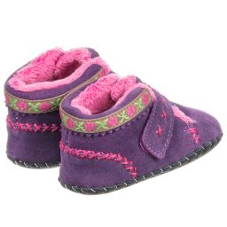 Pediped Originals (0-24mth) - Girls Suede Pre-Walker Boots | Childrensalon
