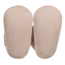 Petit Nord - Pink Sheepskin Pre-Walker Baby Boots | Childrensalon
