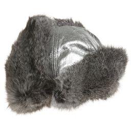 Petit Nord - Silver Leather & Fur Hat | Childrensalon