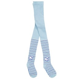 Playshoes - Blue Cotton Thermal Polar Bear Tights | Childrensalon
