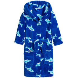 Playshoes - Blue Shark Fleece Bathrobe  | Childrensalon