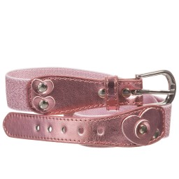 Playshoes - Girls Pink Glitter Elasticated Belt | Childrensalon