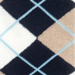 Playshoes - Navy Blue Cotton Argyle Tights | Childrensalon