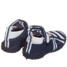 Playshoes - Navy Blue Striped 'Anchor' Aqua Shoes | Childrensalon