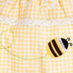 Powell Craft - Baby Girls Cotton Playsuit   Childrensalon