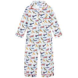 Powell Craft - Boys Vintage Aeroplane Pyjamas | Childrensalon