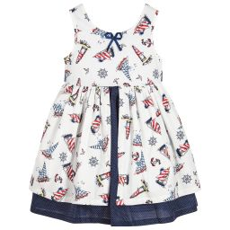 Powell Craft - Girls Cotton Nautical Dress | Childrensalon