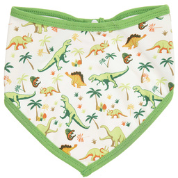 Powell Craft - Green Dinosaur Bandana Bib | Childrensalon