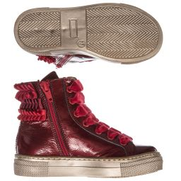 Quis Quis - Girls Red High Top Trainers | Childrensalon