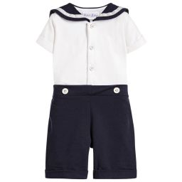 Rachel Riley - Baby Boys Blue Sailor Suit | Childrensalon