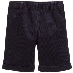 Rachel Riley - Boys Blue Corduroy Shorts | Childrensalon