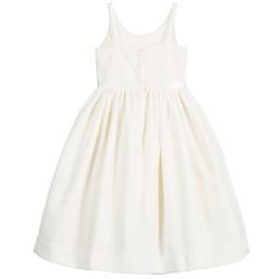 Polo Ralph Lauren - Long Ivory Cotton Velvet Dress | Childrensalon