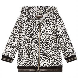 Roberto Cavalli - Baby Girls Leopard Hooded Top | Childrensalon