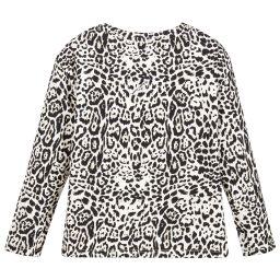 Roberto Cavalli - Girls Leopard Jersey Top | Childrensalon