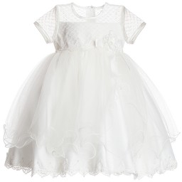 Romano Princess - Baby Girls Ivory Dress  | Childrensalon