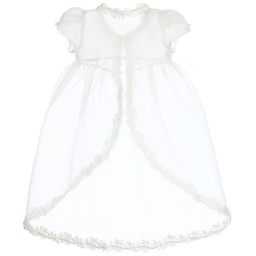 Romano Princess - Baby Girls Ivory Dress & Jacket Set | Childrensalon