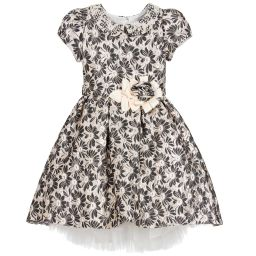 Romano Princess - Black Brocade Dress & Bag | Childrensalon