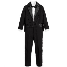 Romano Vianni - Boys 5 Piece Black Tuxedo Suit | Childrensalon