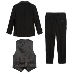 Romano - Boys Black 3 Piece Special Occasion Suit | Childrensalon