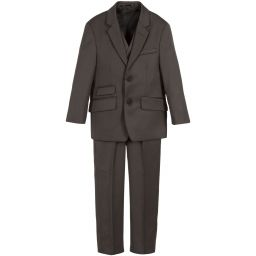 Romano - Boys Brown Fleck 3-Piece Suit | Childrensalon