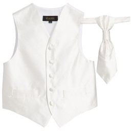 Romano Vianni - Boys Ivory Waistcoat & Adjustable Tie Set | Childrensalon