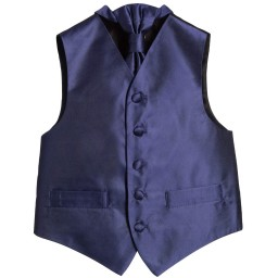 Romano Vianni - Boys Navy Blue Waistcoat & Adjustable Tie Set | Childrensalon