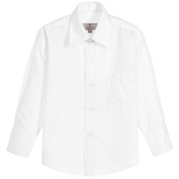 Romano Vianni - Boys White Cotton Shirt | Childrensalon