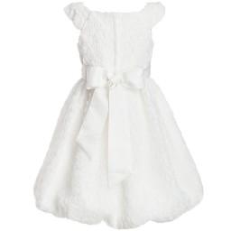Romano Princess - Ivory Brocade Bubble Hem Dress | Childrensalon