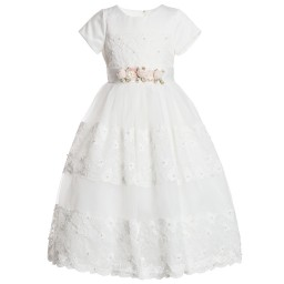 Romano Princess - Ivory Lace Dress | Childrensalon