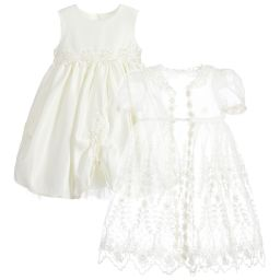 Romano Princess - Ivory Occasion Dress Set | Childrensalon