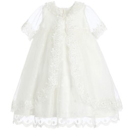 Romano Princess - Ivory Organza Dress & Jacket | Childrensalon