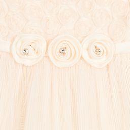Romano Princess - Peach Tulle Girls Dress Set | Childrensalon