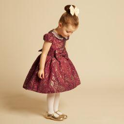 Romano Princess - Red & Gold Brocade Dress | Childrensalon