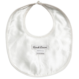 Sarah Louise - Ivory Silk Embroidered Bib | Childrensalon