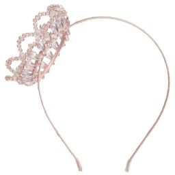 Sienna likes to party - Girls Pink Crown Hairband | Childrensalon