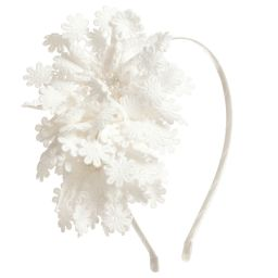 Sienna likes to party - Girls White Flowers Hairband | Childrensalon