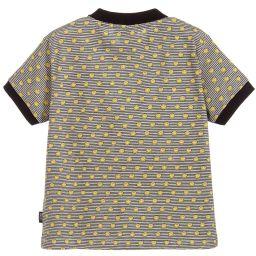 Smiley Originals - Boys Grey Striped Polo Shirt | Childrensalon