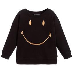 Smiley Originals - Girls Black Logo Sweatshirt | Childrensalon