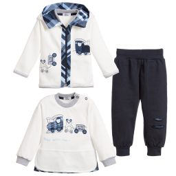 Sofija - Baby Boys Blue 3 Piece Outfit | Childrensalon