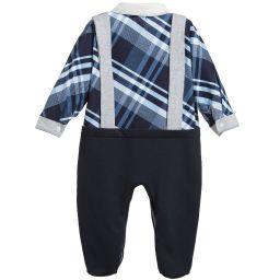 Sofija - Baby Boys Navy Blue Babygrow   Childrensalon