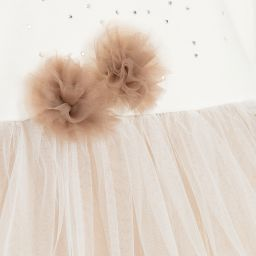 Sofija - Baby Girls Ivory & Beige Dress | Childrensalon